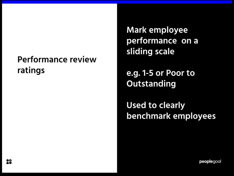 Performance Review Ratings Purpose
