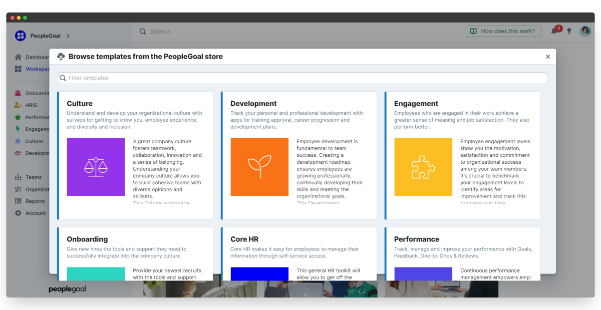browse workspace templates