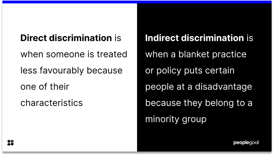 direct vs indirect discrimination definition