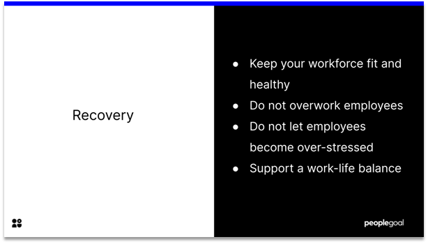 High Performing Teams - recovery