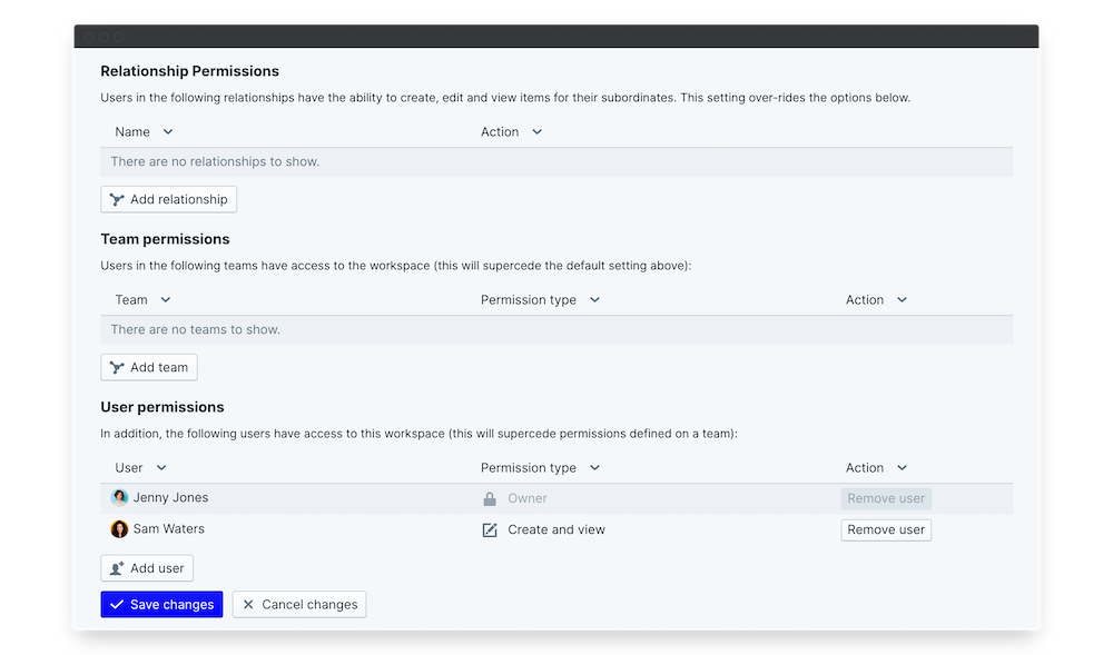 employee onboarding specific permissions