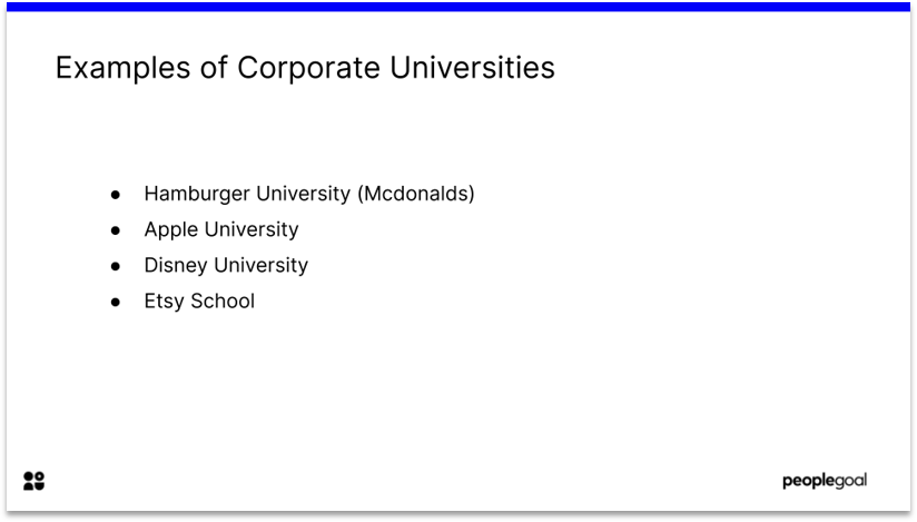 Corporate Universities for Learning and Development Program