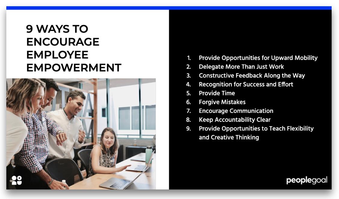 9 ways to encourage employee empowerment