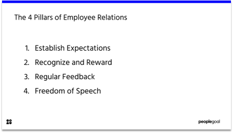 4 pillars of employee relations