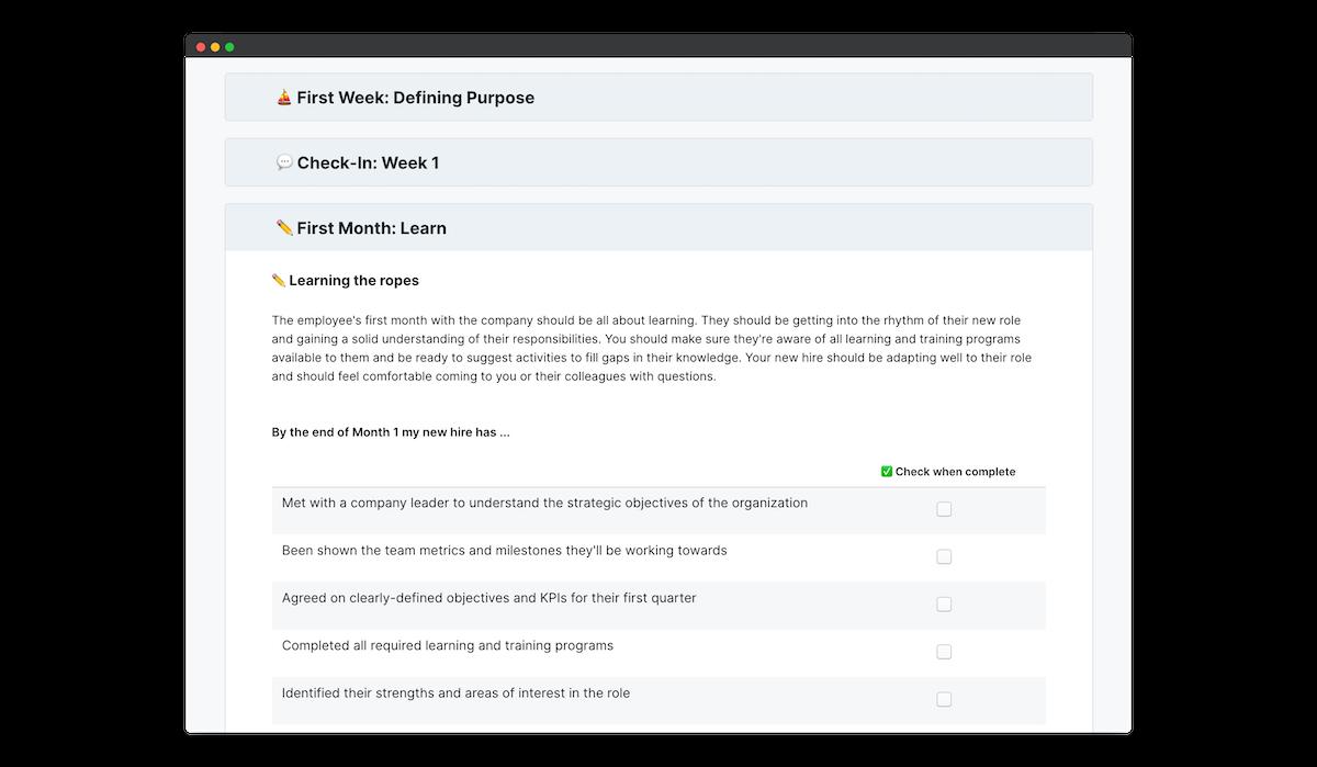 iqmetrix onboarding checklist peoplegoal