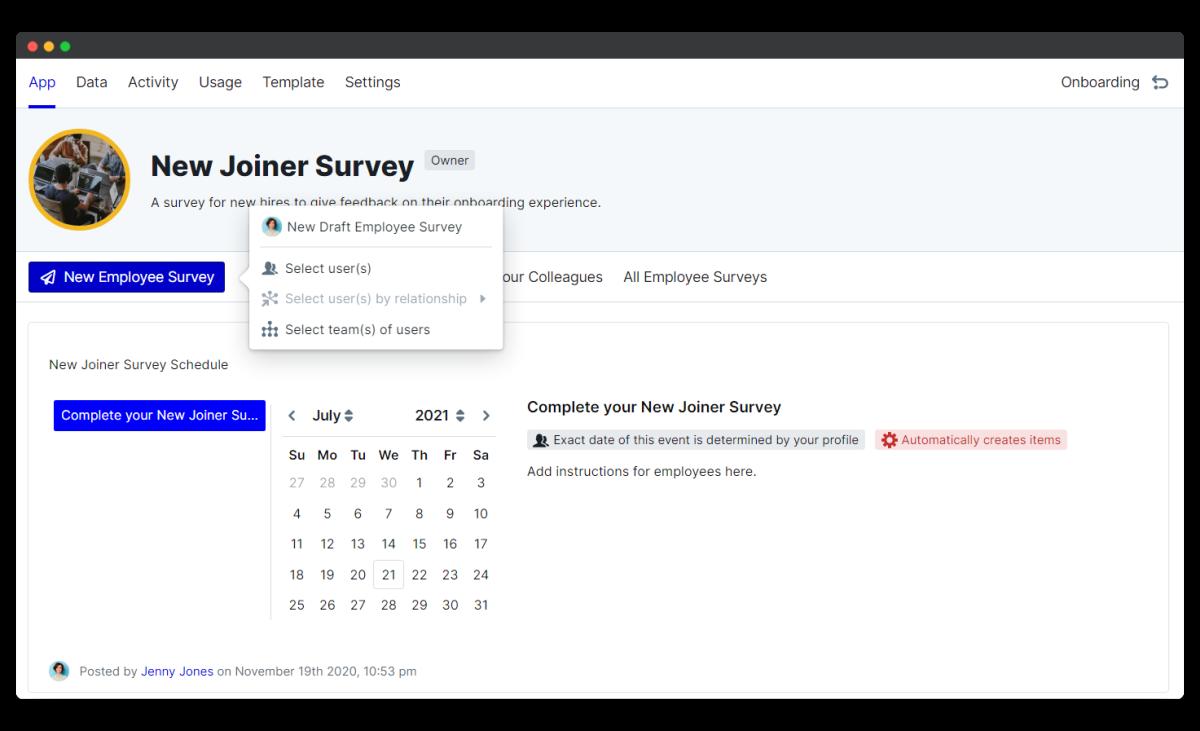 new joiner survey - new survey