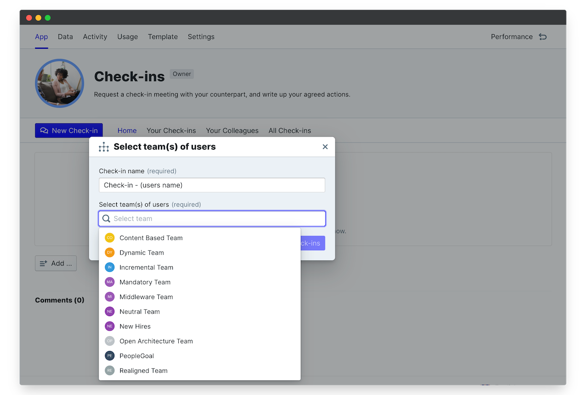 employee manager check in launch