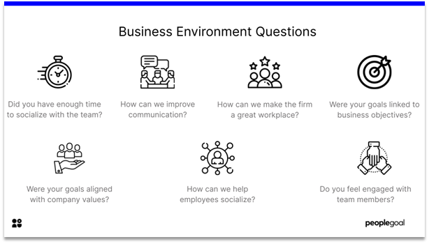 Feedback Questions - business environment questions