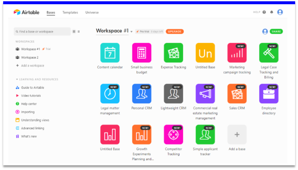 management tools - airtable