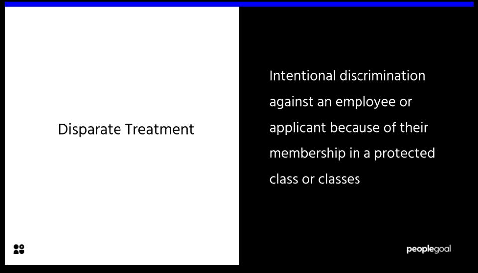 Disparate Treatment Definition