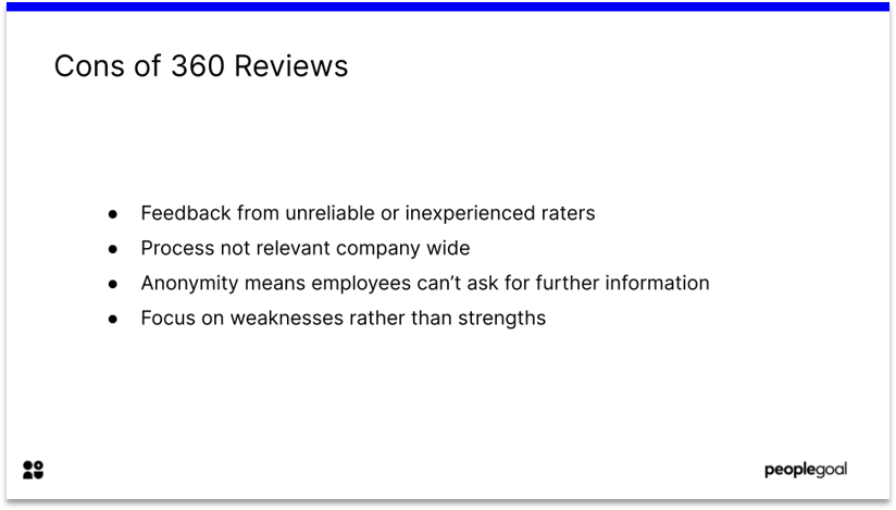 Disadvantages of 360 Reviews