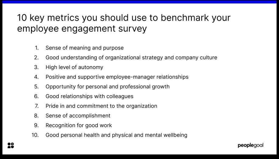 benchmarking engagement survey metrics 10 key metrics