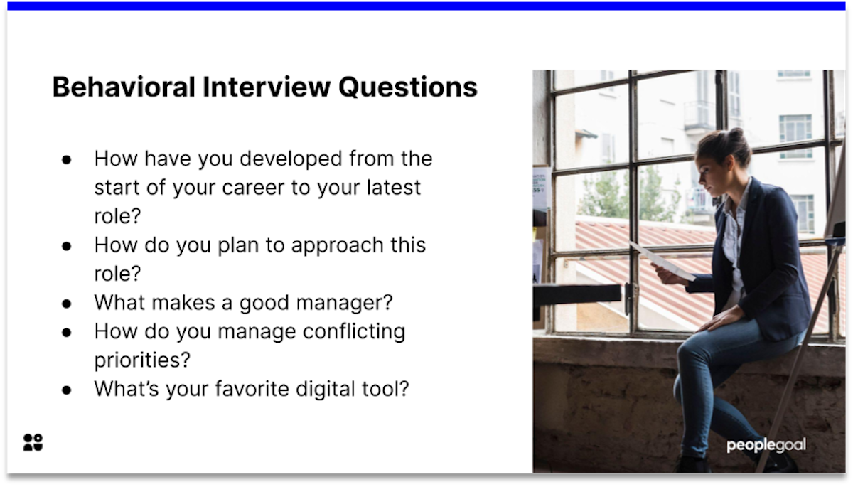 behavioral manager interview questions