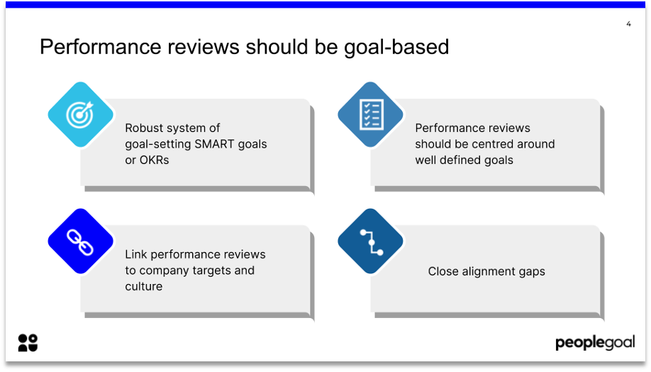 remote performance reviews goal based