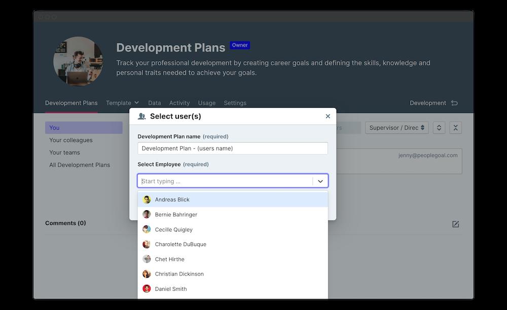 employee development plan launch