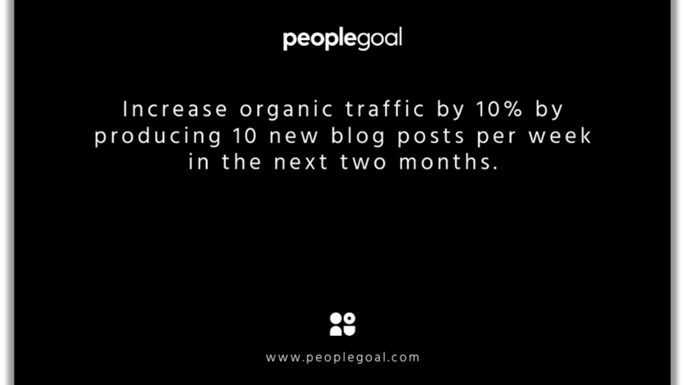 smart goals examples - organic traffic