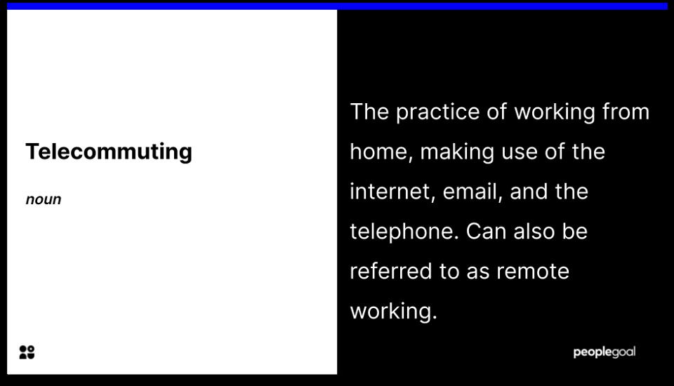 Telecommuting - definition