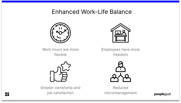 Remote Employee Engagement - enhanced work-life balance