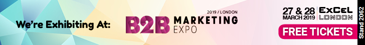 Get your FREE tickets: http://www.b2bmarketingexpo.co.uk