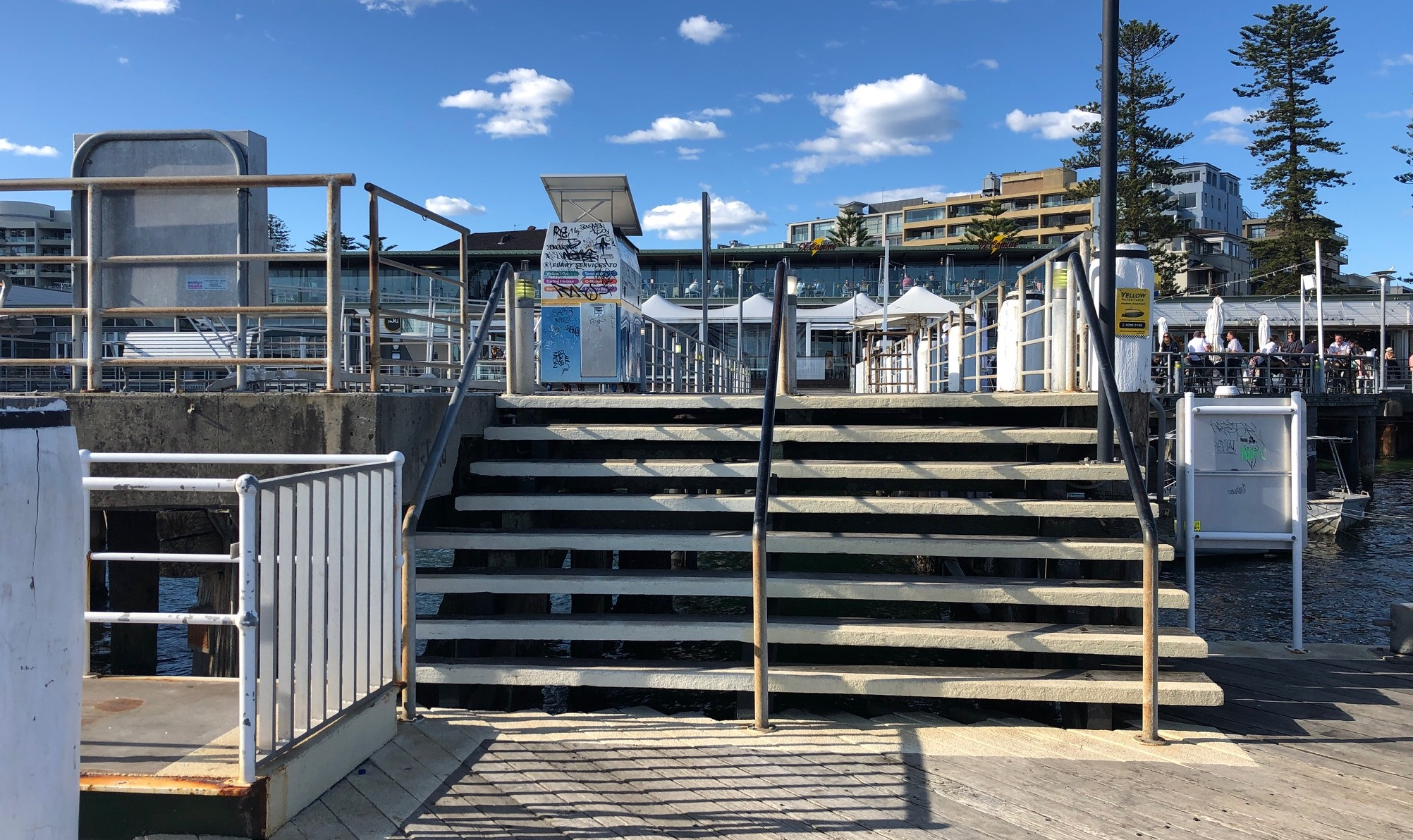 timber wharf steps