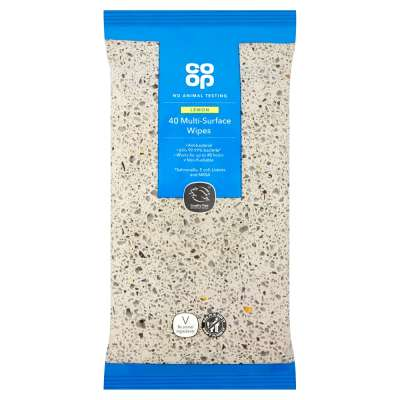 Co-op 40 Antibacterial Multi Surface Wipes
