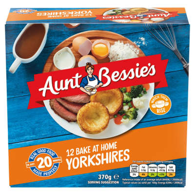 Aunt Bessie's 12 Ready To Bake Yorkshire Puddings 370g