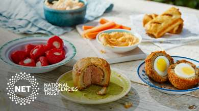 NET -  Help those going hungry. Every time you buy from our picnic range we'll donate 20p to NET with every purchase.
