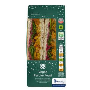 Co-op Vegan Festive Feast Christmas Sandwich
