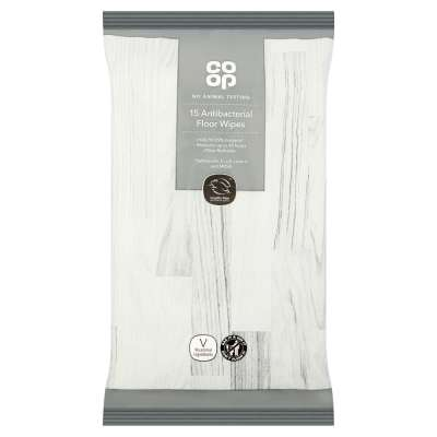 Co-op 15 Antibacterial Floor Wipes
