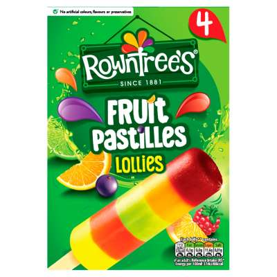Rowntrees Fruit Pastilles Lollies 4x65ml
