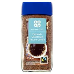 Co-op Fairtrade Gold Roast Decaffeinated Freeze Dried Coffee 100G