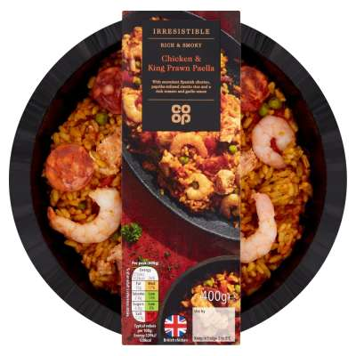 Co-op Irresistible Chicken & King Prawn Paella 400g