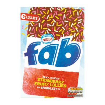 Nestlé Fab Extra Strawberry 6x58ml
