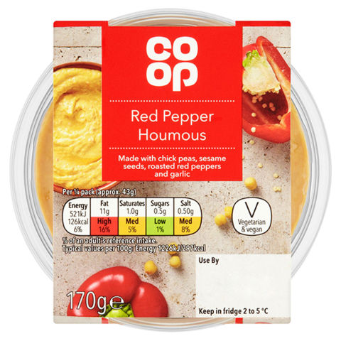 Co-op Red Pepper Houmous 170g