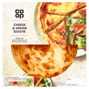 Co-op Cheese and Onion Quiche 400g