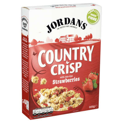 Jordans Country Crisp with Real Strawberries 500g