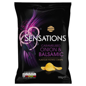 Walkers Sensations Balsamic Vinegar and Caramalised Onions 150g
