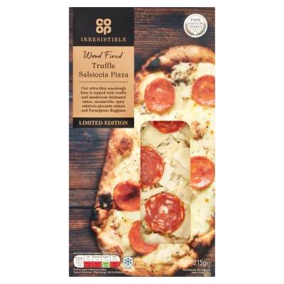 Co Op Limited Edition Irresistible Wood Fired Truffle Salami Pizza 215g