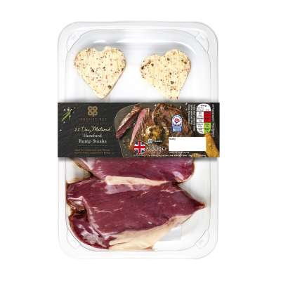 Co-op Irresistible Hereford Rump Twin Pack Steak with Peppercorn Butter 360g