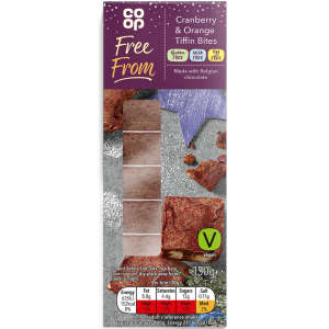 Co-op Free From Cranberry and Orange Tiffin Bites 150g - Gluten, Milk & Egg Free