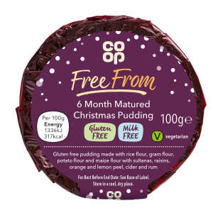 Co-op Free From 6 Month Matured Christmas Pudding 100g - Gluten & Milk Free