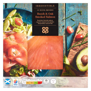 Co-op Irresistible Beech & Oak Smoked Salmon 100g