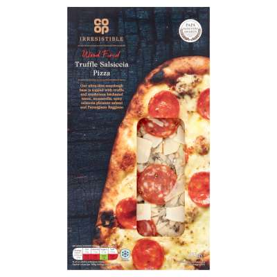 Co-op Limited Edition Irresistible Wood Fired Truffle Salsiccia Salami Pizza 215g