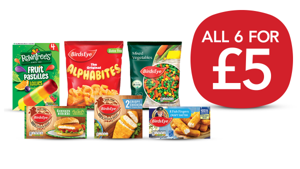 Fill the freezer with six of your favourites for a fiver