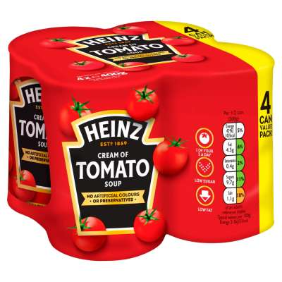 Heinz Classic Cream Of Tomato Soup 4X400g