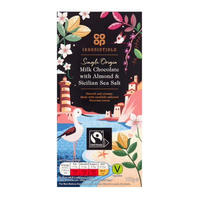 Co-op Irresistible Milk Almond & Sicilian Sea Salt 100g