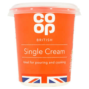 Co-op Fresh Single Cream 300ml