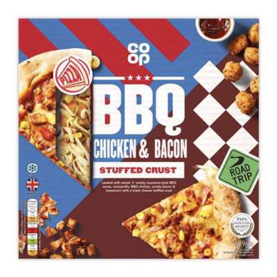 Co-op Stuffed Crust BBQ Chicken & Bacon Pizza 509g