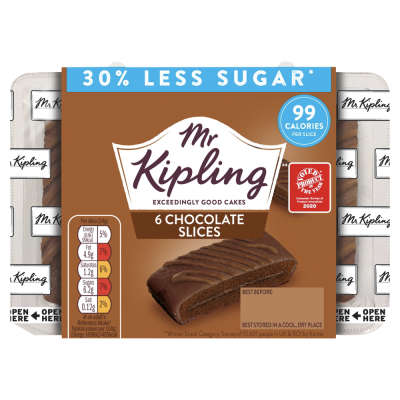Mr Kipling Chocolate Slices - Reduced Sugar 6 Pack