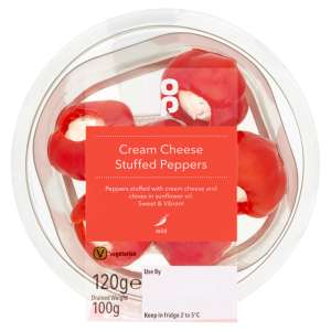 Co-op Cream Cheese Stuffed Peppers 120g